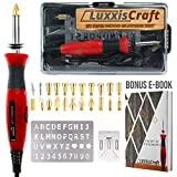 Wood Burning Kit 21 PCS Tools Set. Professional Pyrography Kit – Woodburning Pen, Embossing, Carving, Soldering Tips, Hot Knife, Stencil, Stand, Carrying case ✮Bonus E-Book✮ Arts and Crafting Supplies