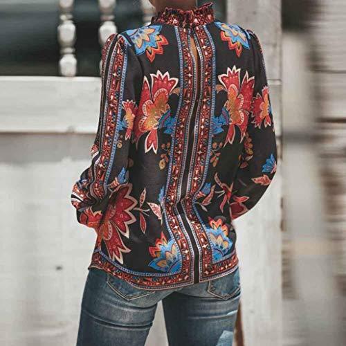 Blouse Printemps Soie Rouge Chic Tunique POachers de 2018 Longue Et Femme Manche Mousseline Automne Chemisier qxxUpwSI