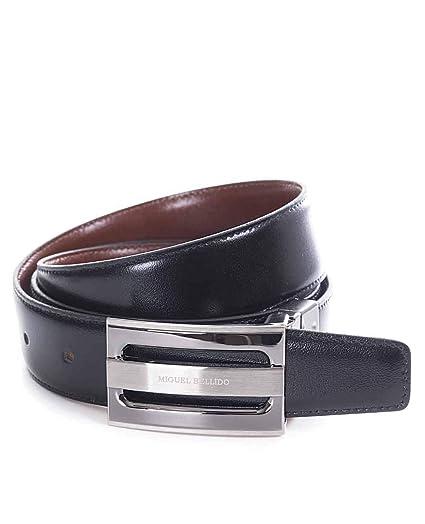 Miguel Bellido Cinturón clásico Reversible Piel Negro/Marrón 105cm 0.05Kg