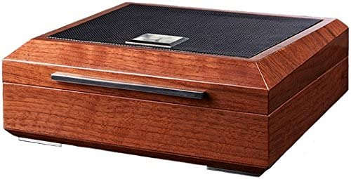 La Madera Cubana Premium Cigar Humidor Luxury Humidor Elegant Leather/Steel Design