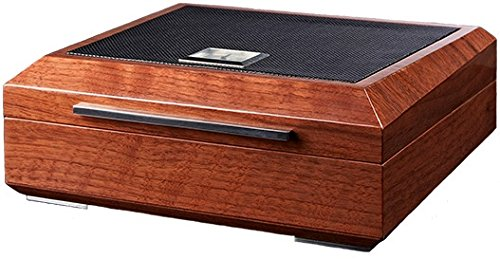 La Madera Cubana Premium Cigar Humidor Luxury Humidor Elegant Leather/Steel Design Leather Humidor