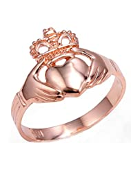 Rose Gold Claddagh Ring Ladies Traditional (6)