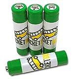 4-Pack RocketBus AAA NiMH Rechargeable Batteries for Panasonic HHR-65AAABU 1.2V 630mAh Cordless Phone Battery