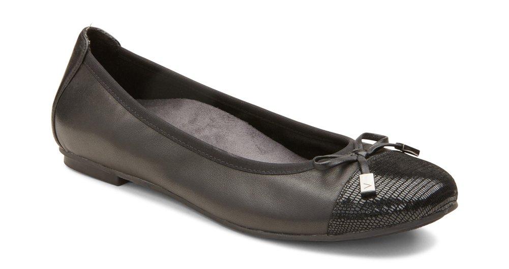 Vionic Women's Spark Minna Ballet Flat Black Size 7