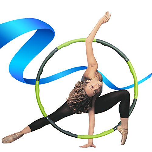 Weighted Hula Hoop, Kictero Heavy Fitness Hoop, Exercise Hoop, Massage Hoop Weight Loss Workout Equipment for Adults / Kids, Dance, Twist, Stretch / Sweat