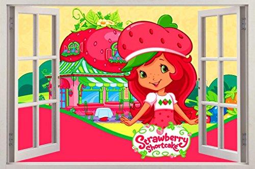 Strawberry Shortcake 3D Window Decal Wall Sticker Home Decor Art Mural Kids J512, -