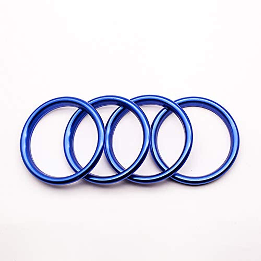 Freenavi Air Conditioning Ring Cover Air Exit Cover Decoration Sticker for Audi A3 S3 2013-2016 / Q2 2017 Accessories, Car-Styling 4pcs (Blue)