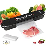 VIVOHOME Automatic Vacuum Air Sealing System Packing Machine with 15 Started Bags for Food Preservation
