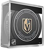 #2: 2017 2018 VEGAS GOLDEN KNIGHTS INAUGURAL SEASON PUCK IN ACRYLIC CUBE DISPLAY