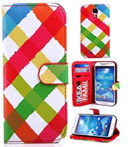 Leather Case for S4,S4 Case,S4 Leather,Galaxy S4 Leather Case,S4 Wallet Case,Addigital Colorful Print Flip Wallet Leather Case Cover For Samsung Galaxy S4 i9500 015