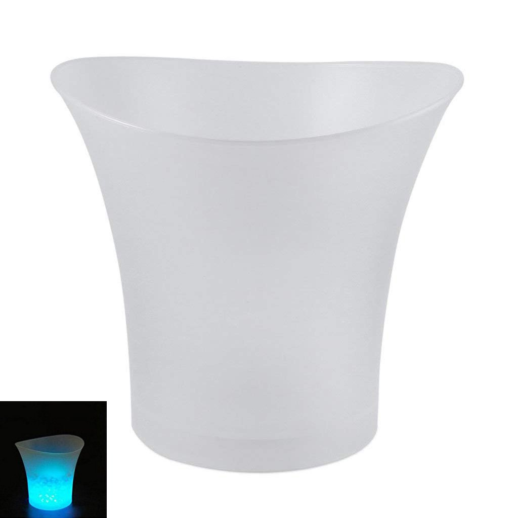 TOOGOO LED Ice Bucket Champagne Wine Beer Cooler Xmas Party 5L - Blue
