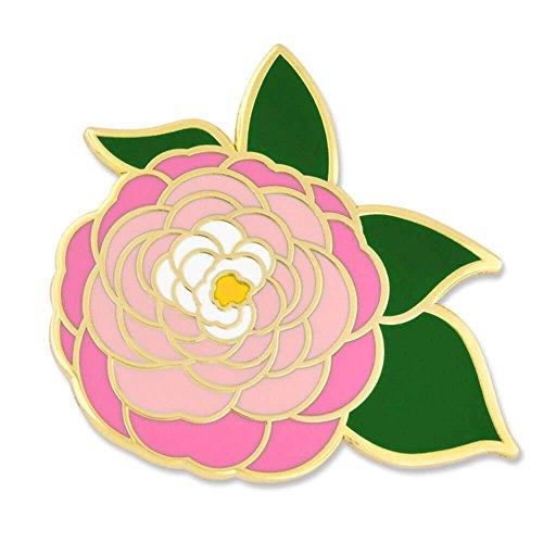 PinMart's Pink Peony Flower Boutonniere Trendy Enamel Lapel Pin (Flower Meanings Peony)