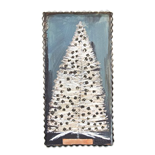 (The Round Top Collection Vintage Bottle Brush Tree, Sign - Metal & Wood)