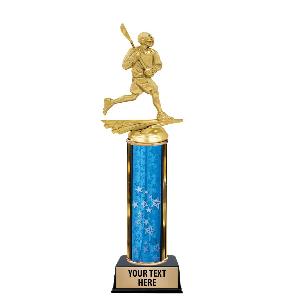 12'' Lacrosse Star Trophy Award - Mens Lacrosse Trophies With Customized Text Prime