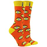 Women's Caual Dress Socks,WXXM Eyes Printed Party Suitable Stylish Novelty Tube Crew Socks 2 Pairs Orange