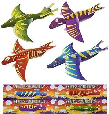HENBRANDT 36 x Dinosaur Gliders 4 Assorted Designs