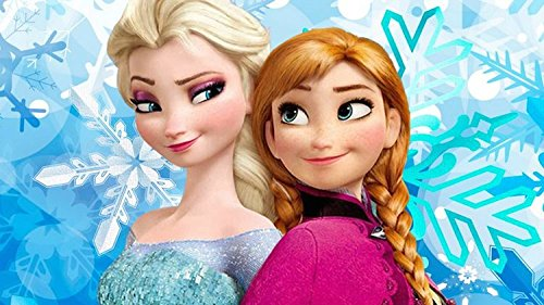 "Disney FROZEN FEVER 2015 Elsa Anna Castle the Movie cartoon Pillow Case Zippered custom 20"" X 30"" Brand New"