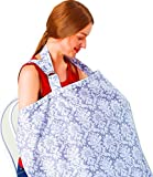 JOKHOO Nursing Cover, Baby Breastfeeding Covers and Wide Privacy Hider for Moms (H, 10070)