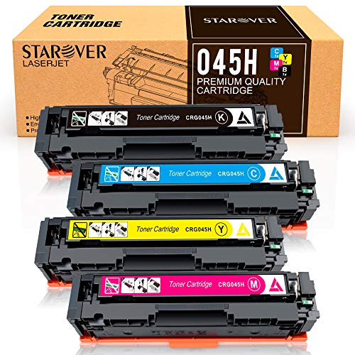 STAROVER Compatible Toner Cartridges Replacement for Canon Cartridge 045 045H CRG-045H for Canon Color imageCLASS MF634Cdw MF632Cdw LBP612Cdw MF632 MF634 - 4 ()