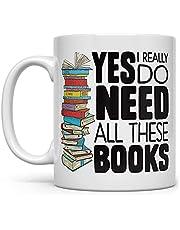Boek Lover Mok Bookish Present Bibliothecaris Mok Bookworm Ja Ik heb echt al deze boeken nodig 456TM9