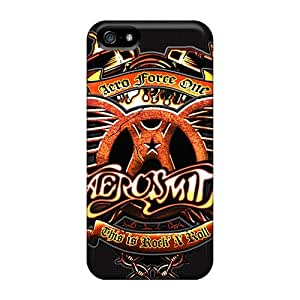 Perfect Cell-phone Hard Cover For Iphone 5/5s With Allow Personal Design Colorful Aerosmith Band Skin ChristopherWalsh