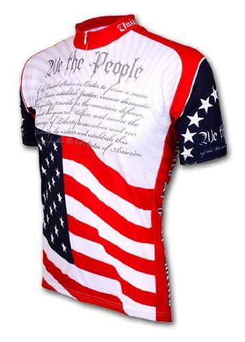 米国憲法Cycling Jersey by Worldジャージ半袖メンズ B004RZ7H32 X-Large