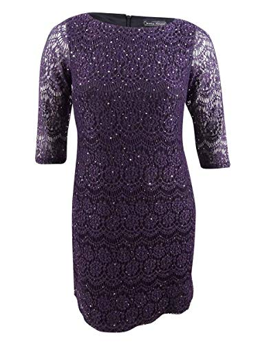 Jessica Howard Women's 3/4 Sleeve Lace Shift Dress