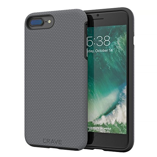 iPhone 8 Plus Case, iPhone 7 Plus Case, Crave Dual Guard Protection Series Case Apple iPhone 8/7 Plus (5.5 Inch) - Slate
