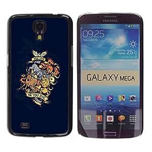 Caucho caso de Shell duro de la cubierta de accesorios de protección BY RAYDREAMMM - Samsung Galaxy Mega 6.3 I9200 SGH-i527 - You Win Or You Die Animal Dragon Crest