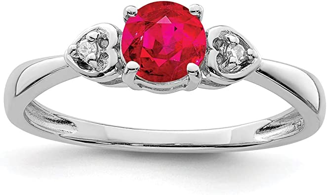 Diamond or Black Diamond or Ruby Solid Silver Open Band Ring Sterling Silver 925 Promise Ring