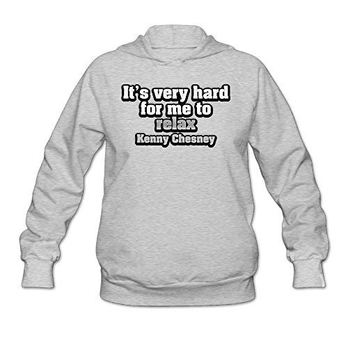 (ShowTime It's Very Hard For Me To Relax Women's Casual Hooded Ash M)