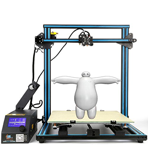 Creality CR-10 3D Printer Aluminum With Heated Bed High-precisio Free Testing Filament+Free Tool Set Blue by Creality 3D