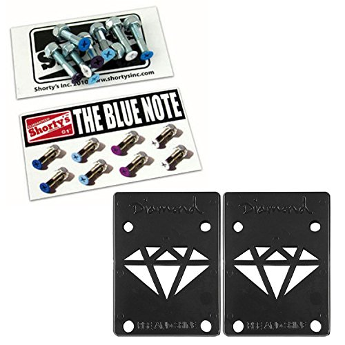 Shorty Replacement - Shorty's Skateboard Hardware The Blue Note 1in Phillips + 1/8in Riser Pads