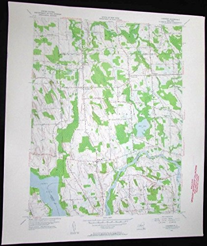 Seneca Cross (Lysander New York Cross Lake Seneca River Mud Lake vintage 1957 USGS Topo chart)