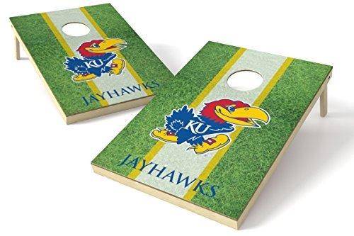 Wild Sports NCAA College Kansas Jayhawks 2' x 3' Field Cornhole Game Set [並行輸入品]