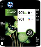 HP 901XL Black /HP 901 Tricolor Ink Cartridge Pack, in Retail Packaging (CC65...