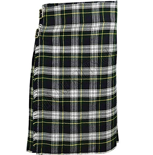 Dress Gordon Men's 5 Yard Scottish Kilts Tartan Kilt 13oz Highland Casual Kilt (36