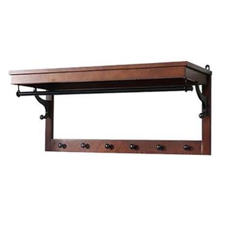 Amazon.com: Xiaolin - Perchero de madera maciza para colgar ...