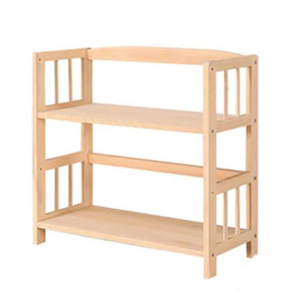 本棚シンプルな本棚無垢材2階床収納棚長さ40/50/60 / 70cm幅26cm高さ56cm B07RMJL95Y