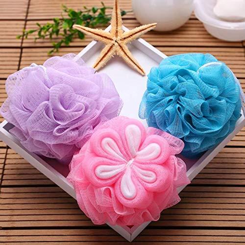 H&JOY 1PC Big Flower Bath Ball Bath Towel Scrubber Body Cleaning Mesh Shower Wash Sponge for Body for Bathroom Accessories