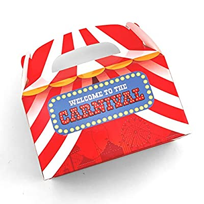Adorox Set of 12 Carnival Treat Boxes Circus Party Goody Treat Boxes Party Favor Birthday Gifts Goodies: Toys & Games
