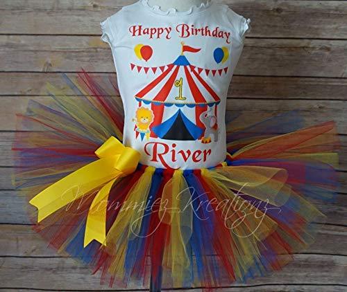 Circus Tutu Set, Carnival Birthday Outfit,Circus Birthday,Elephant -
