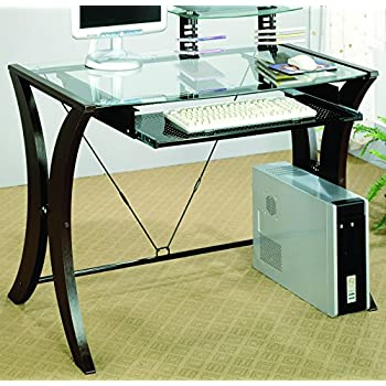 Amazon Com Coaster 800445 Division Table Desk With Glass