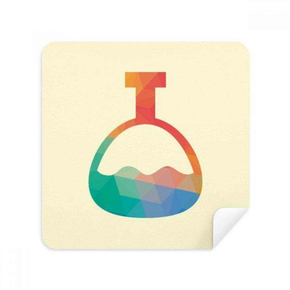 Cartoon円錐ボトル化学パターン電話画面クリーナーメガネクリーニングクロススエードファブリック2個   B07C97YCBD
