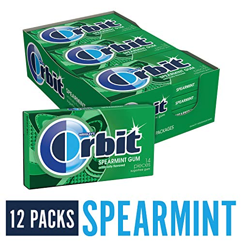 Orbit Spearmint Sugarfree Gum, 14 Pieces (12 Pack) -
