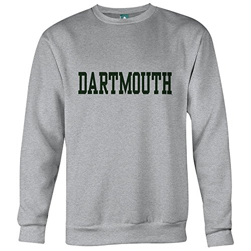 Ivysport Dartmouth College Sweatshirt Classic Logo, 85% Cotton / 20% Polyester, Heather Grey, Crewneck Sweatshirt, (20% Polyester Crewneck Sweatshirt)