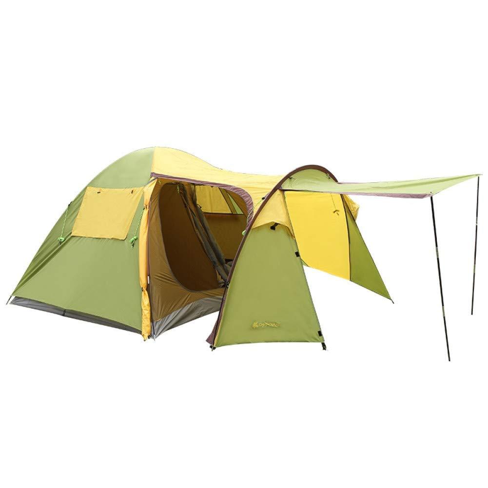 Ashuang Tente familiale de Camping en Plein air à l'épreuve de la Pluie de Trois Couches de Style Double Trois Saisons A1 -