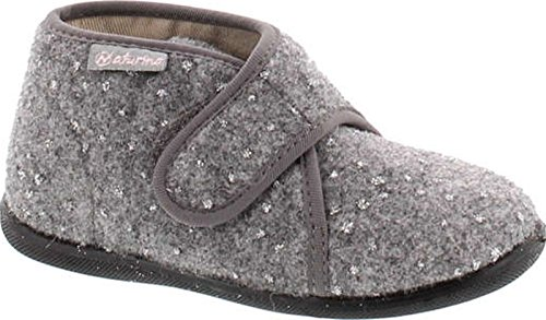 Naturino Girls 7452 Kids Natural Wool Warm Fashion House Slippers,Colibri Grigio,24