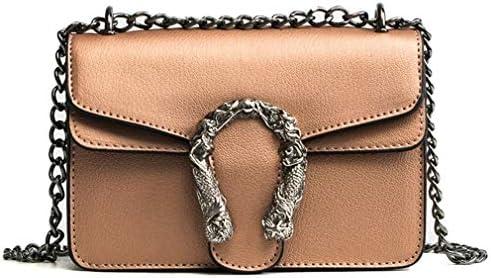 バッグ女性のショルダーバッグ、チェーンバッグは小さな正方形のバッグ、レトロミニバッグ、黄色、18 * 13 * 6 Cm 美しいファッション