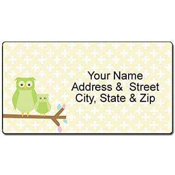 AmazonCom  Owl Address Label  Customized Return Address Label